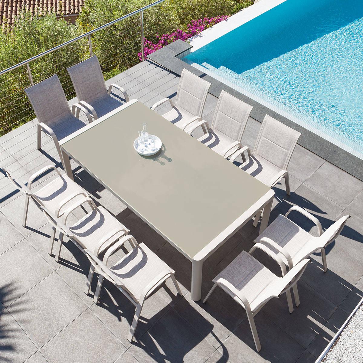 Table de jardin rectangulaire Absolu Taupe, Hesperide.com
