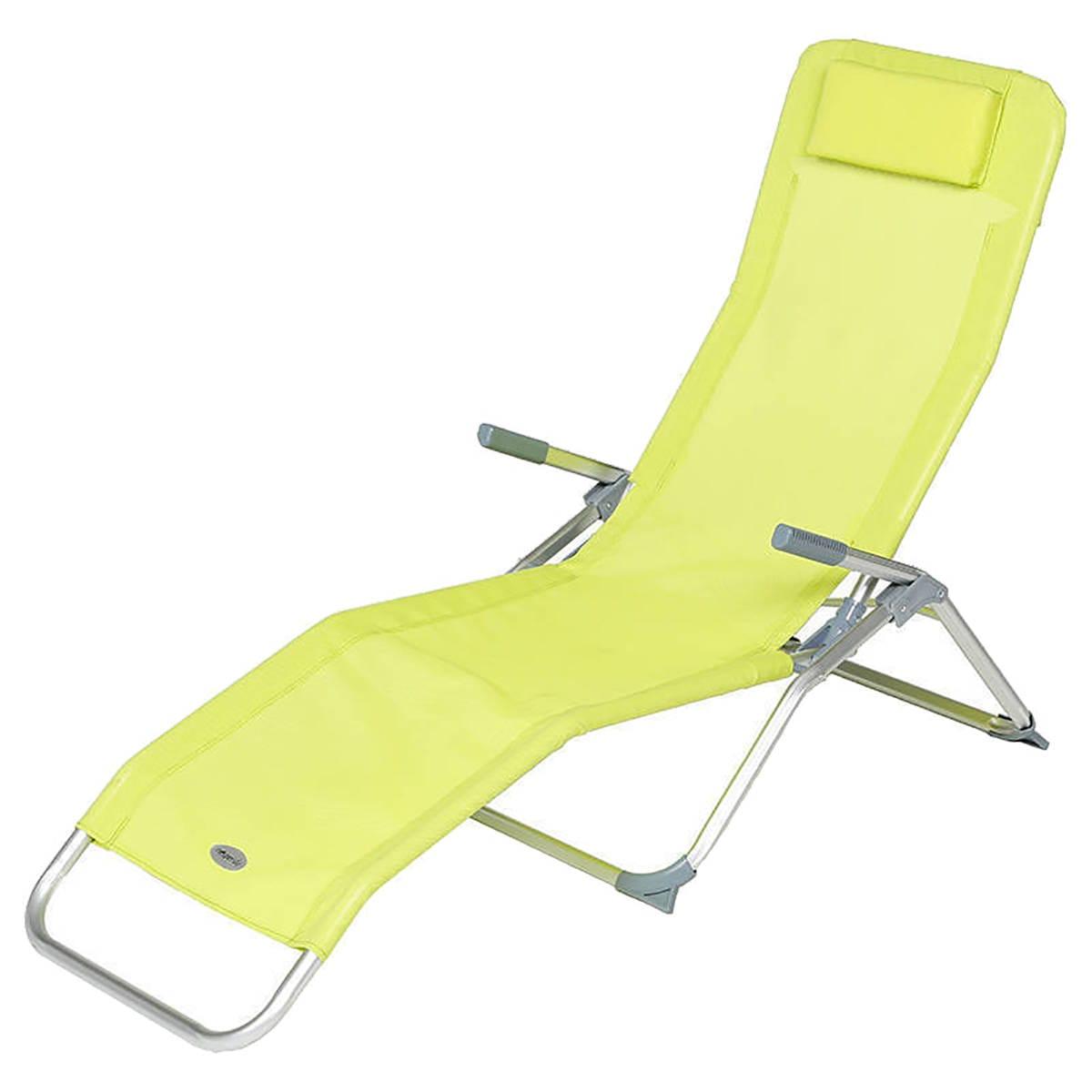 Chaise longue Rio Granny 2 positions - Aluminium, Texaline granny
