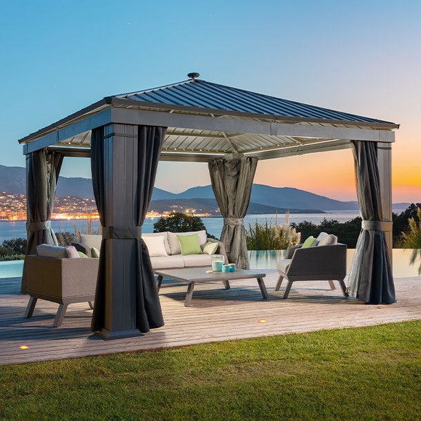 tonnelle de jardin design pergola parasol paravent. Black Bedroom Furniture Sets. Home Design Ideas