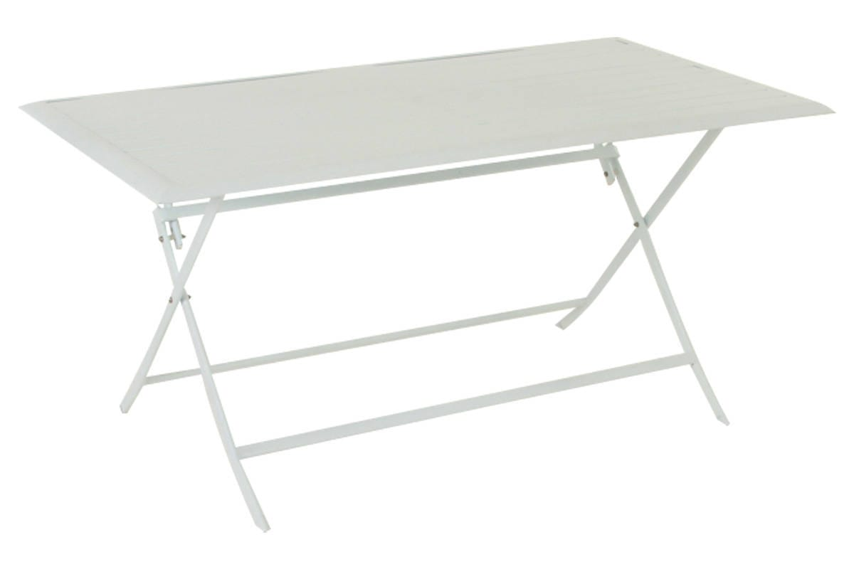 Table pliante rectangulaire azua blanc hesp ride 6 places - Table rectangulaire pliante ...