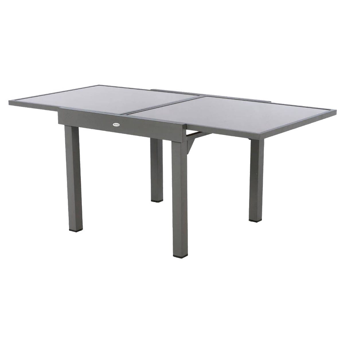Table extensible piazza verre taupe mastic hesp ride 8 places Table de jardin extensible belgique