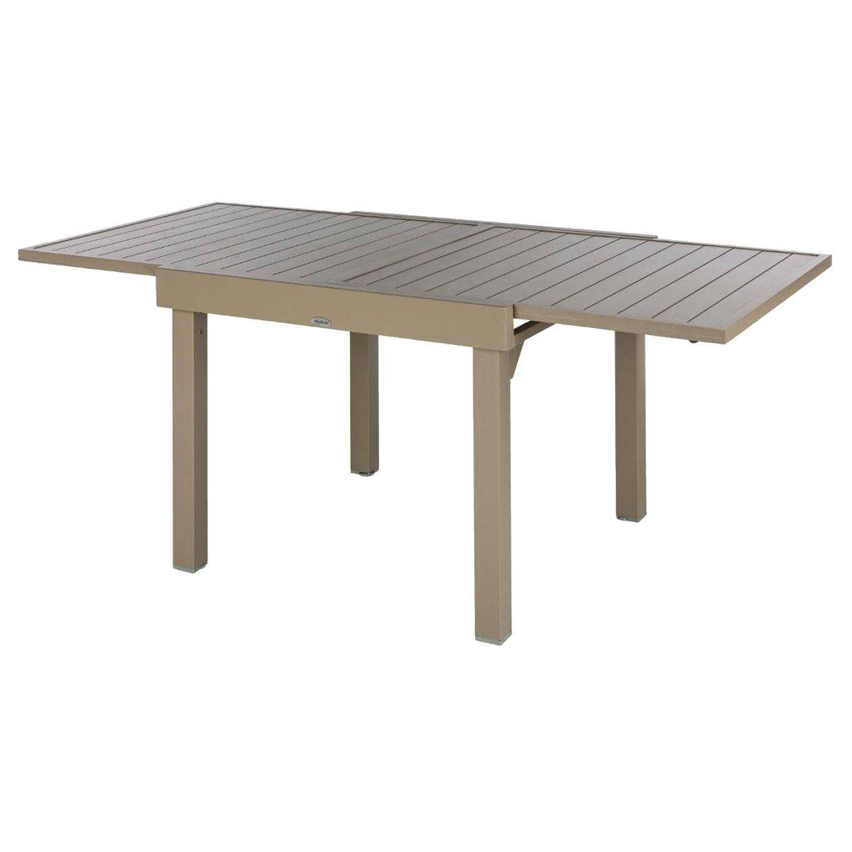 Table de jardin extensible piazza taupe hesp ride 8 places for Table extensible 4 a 8 personnes