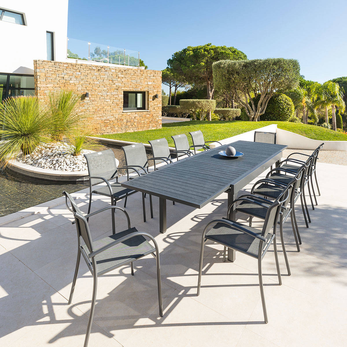 Beautiful table de jardin avec rallonge suisse photos for Table extensible 3 suisses