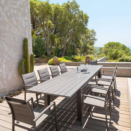 table de jardin aluminium extensible rectangle hesp ride. Black Bedroom Furniture Sets. Home Design Ideas